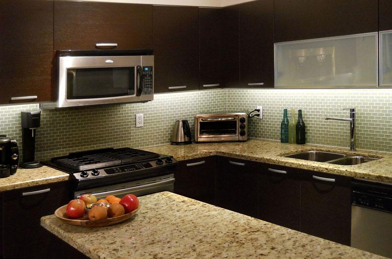 Kitchen After LED lighting