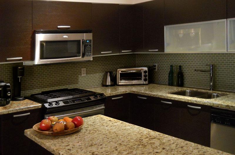 Kitchen before LED lighting