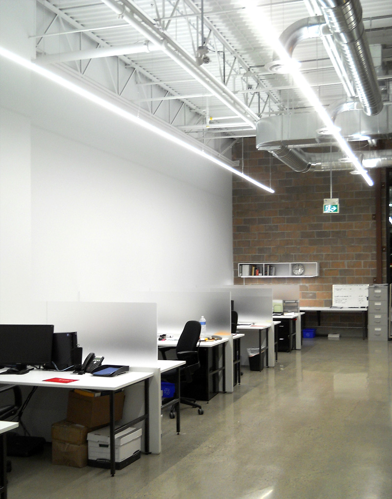 LED suspended office lighting